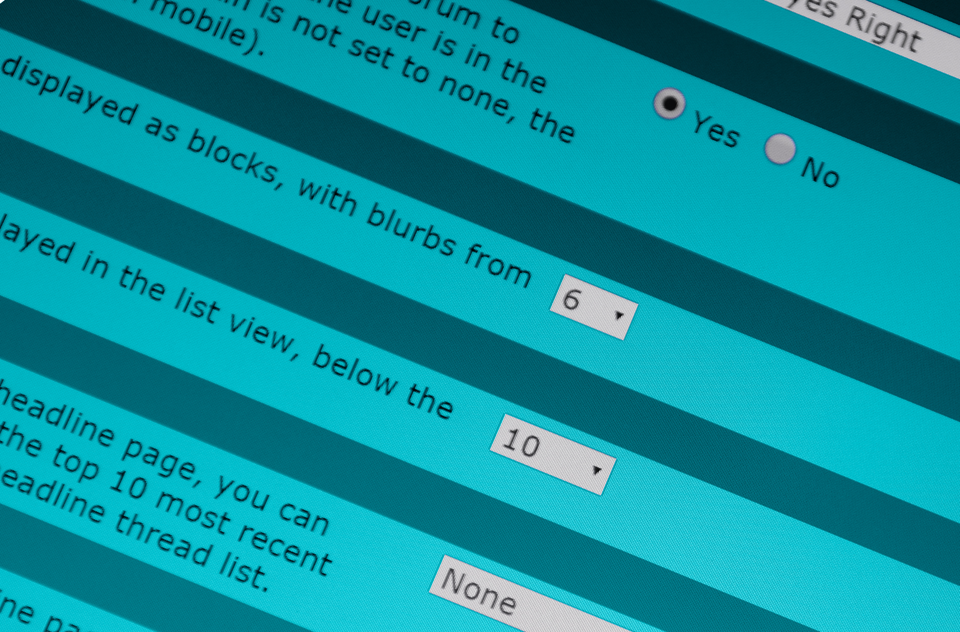 Control Panel for the Adjustable Smart Defaults vBulletin Plugin.